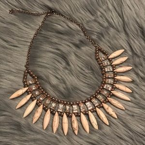 Jewelry - Pink Bohemian style Rose Gold necklace